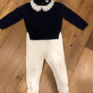 Janie and Jack sweater and pants set